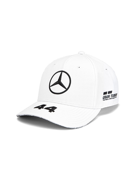 Mercedes Drivers Cap Hamilton (Baseball) 2019 - Blanc