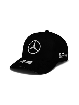 Mercedes Drivers Cap Hamilton (Baseball) 2019 - Schwarz