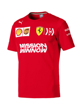 Ferrari Mens Team Tee 2019 - Rouge