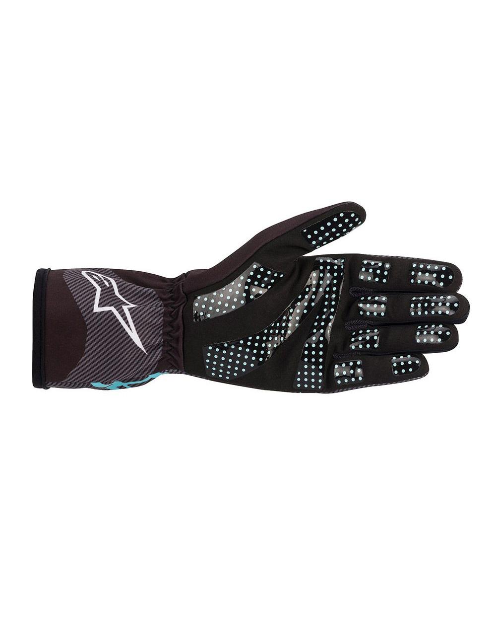 Alpinestars Tech-1K Race V2 Carbon Zwart Turquoise