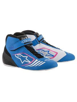 Alpinestars Tech-1 KX Schuhe Blau Schwarz Fuchsia