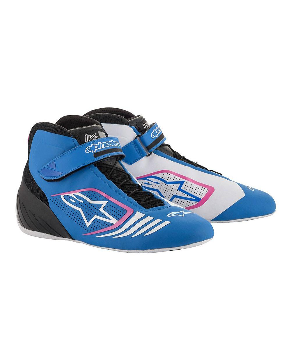 Alpinestars Tech-1 KX Shoe Blue Black Fuchsia