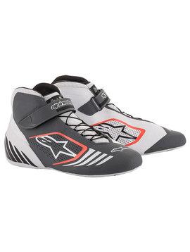 Alpinestars Tech-1 KX Chaussures Blanc Gris Rouge Red Fluo