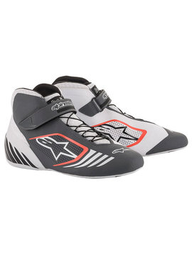 Alpinestars Tech-1 KX Shoe White Gray Red Fluo