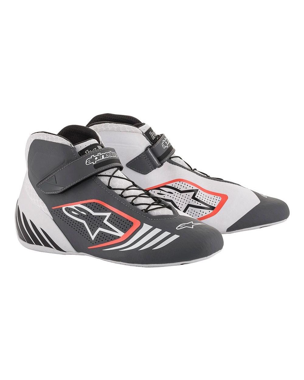 Alpinestars Tech-1 KX Schoenen Wit Gijs Fluo Rood
