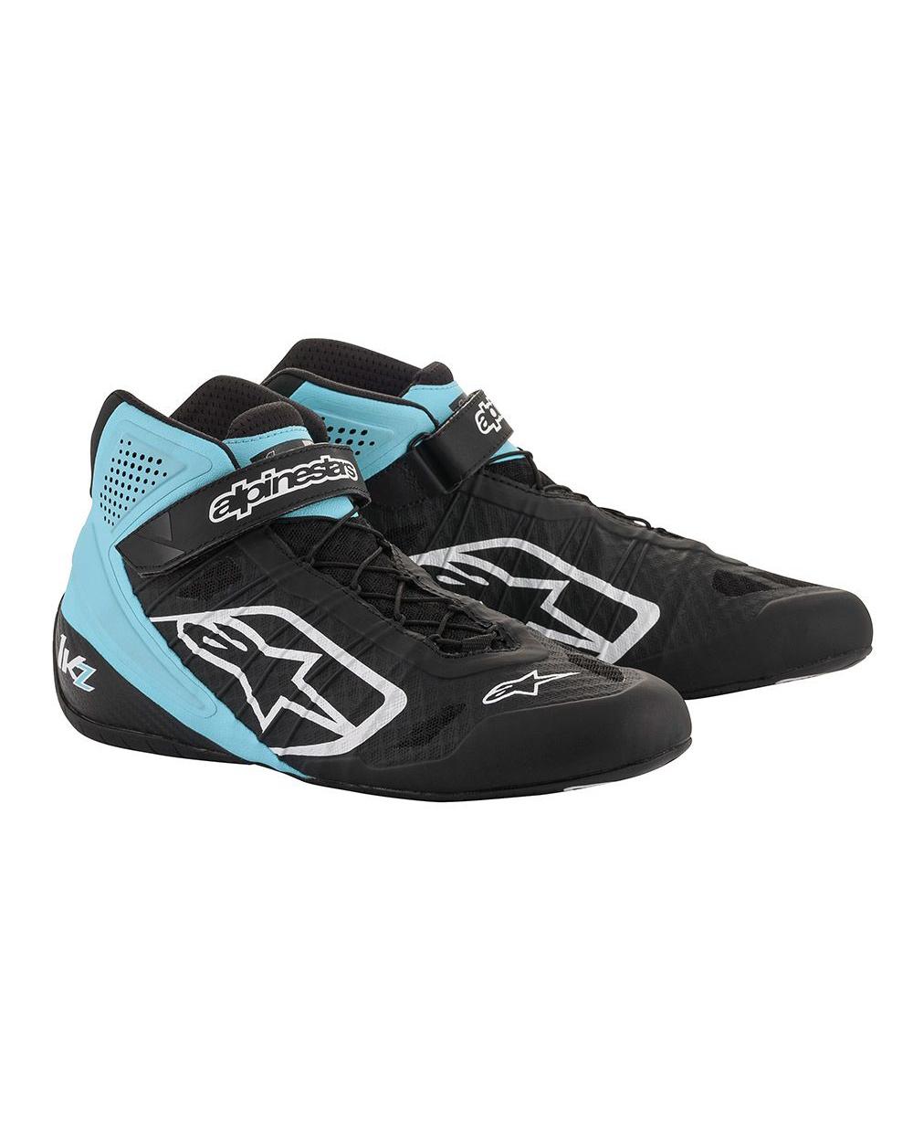 Alpinestars Tech-1 KZ Chaussures Noir Turquoise
