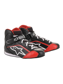 Alpinestars Tech-1 KS Chaussures Junior Noir Rouge