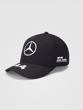 Mercedes Drivers Cap Hamilton (Baseball) 2020 - Zwart