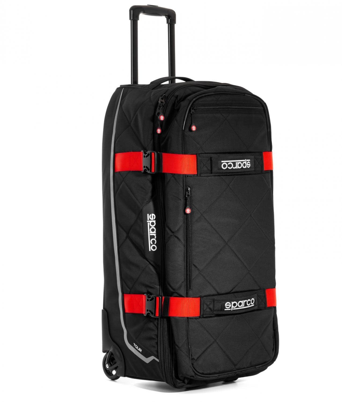 Sparco Tour Trolley Tasche Schwarz Rot