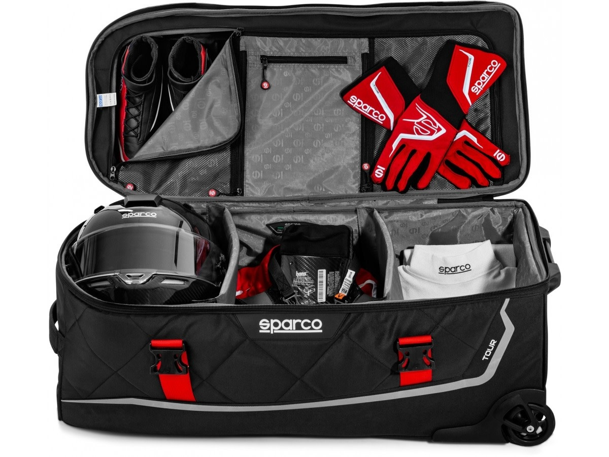 Sparco Tour Trolley bag Black Red