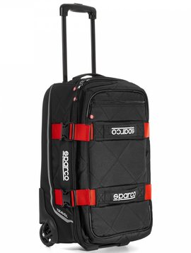Sparco Travel Soft Cabin size Trolley Schwarz Rot