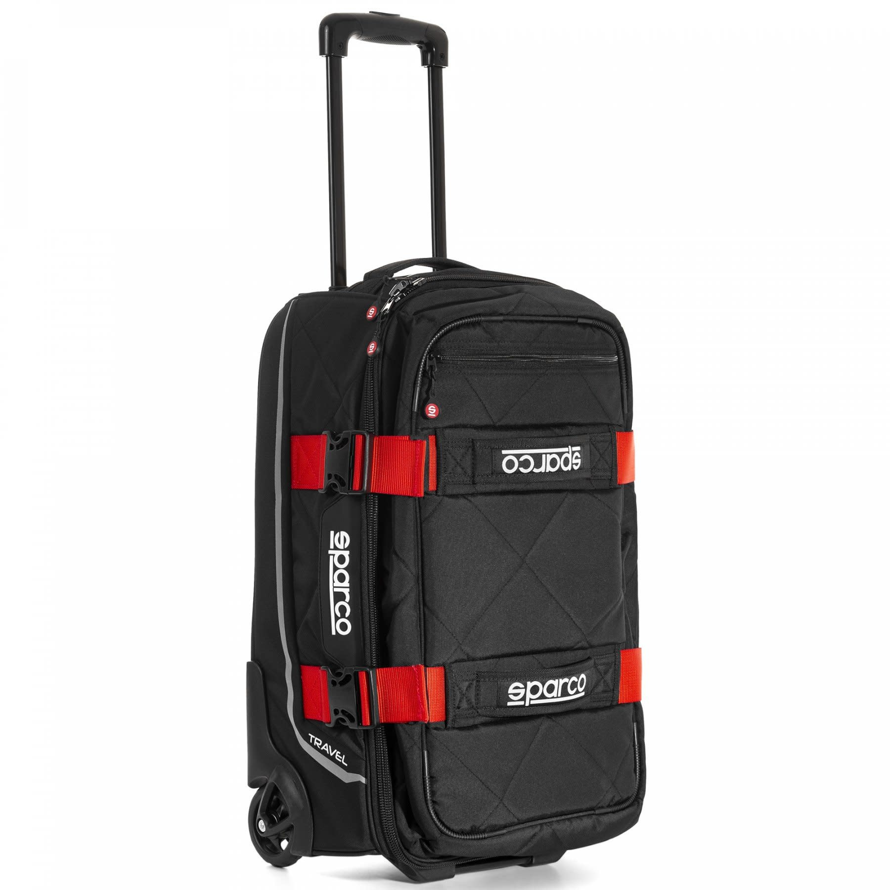 Sparco Travel Soft Cabin size Trolley Zwart Rood