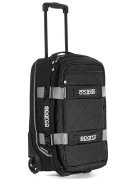 Sparco Travel Soft Cabin size Trolley Zwart Zilver