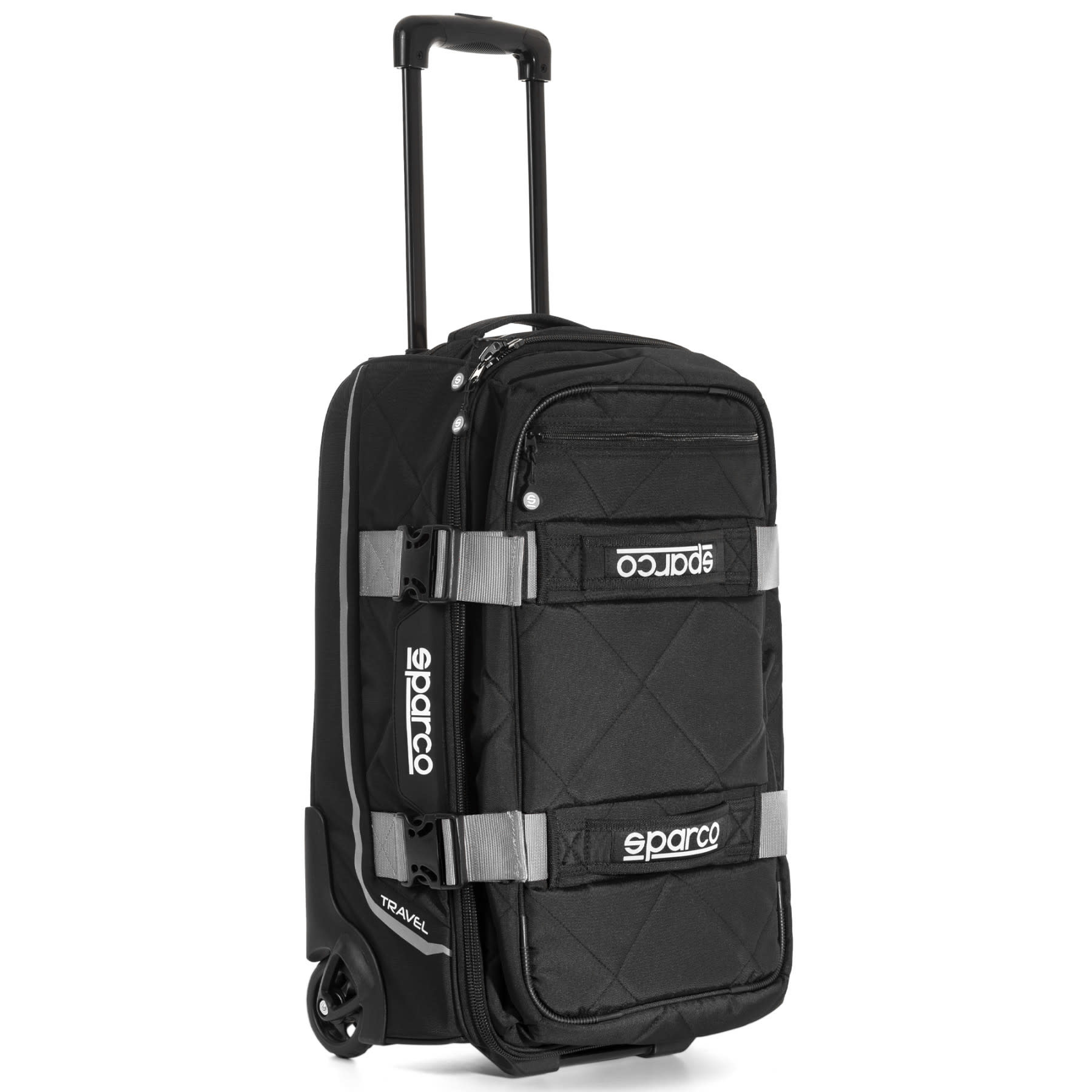 Sparco Travel Soft Cabin size Trolley Black Silver