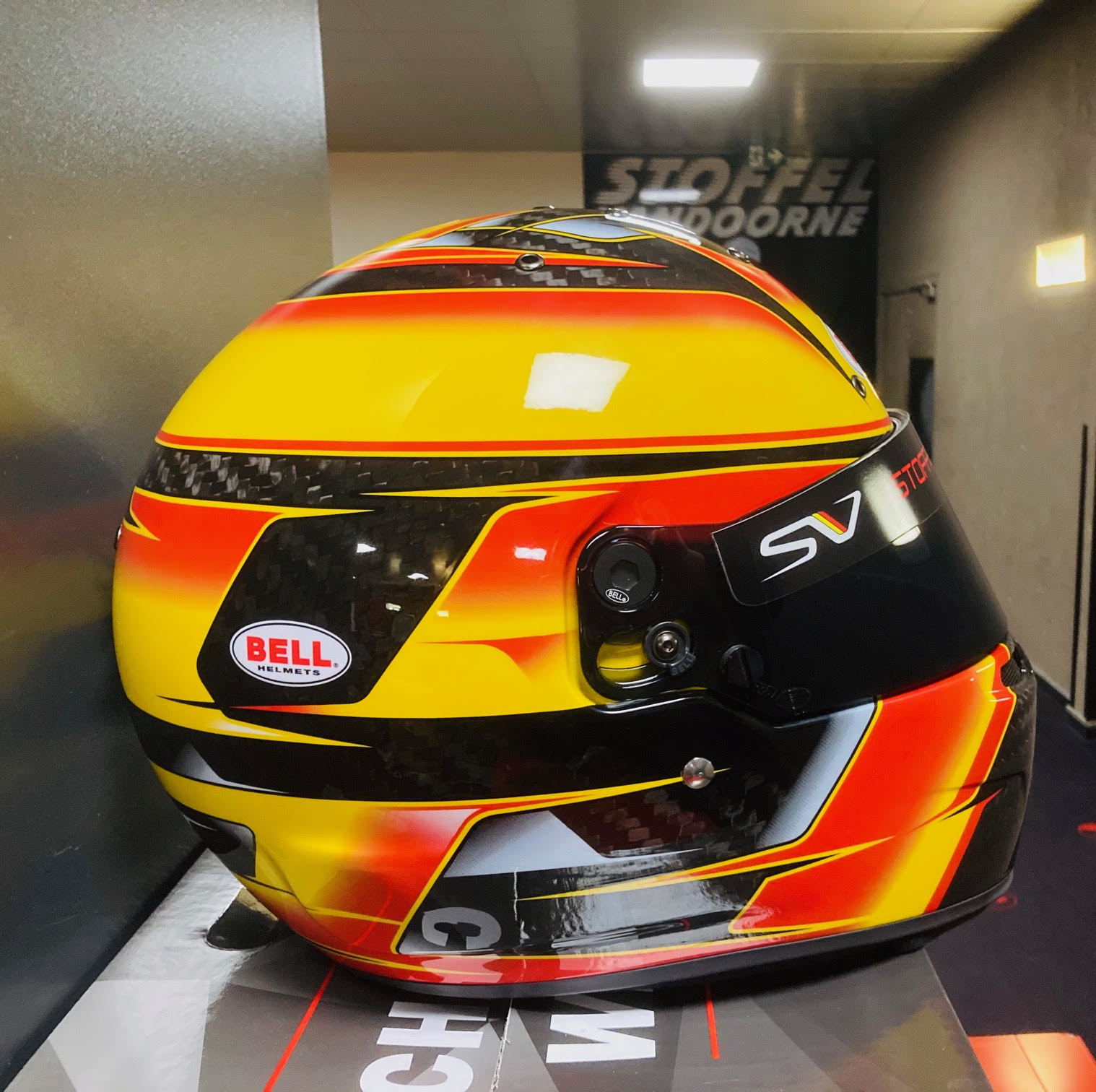Bell Helmets F1 Replica Helm 1:1 Stoffel Vandoorne 2018