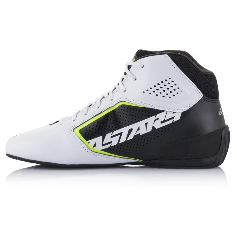 Alpinestars Tech-1 K Start v2 Shoe White Black Yellow Fluo