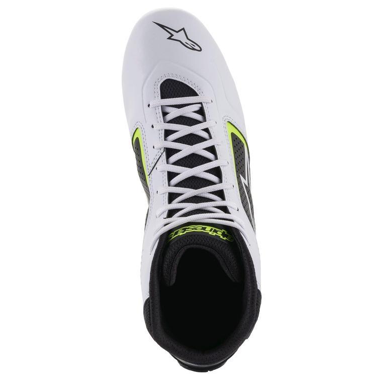 Alpinestars Tech-1 K Start v2 Shoe Blanc Noir Jaune Fluo