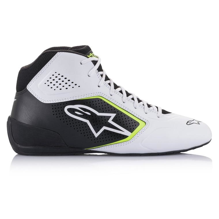 Alpinestars Tech-1 K Start v2 Shoe Wit Zwart Geel Fluo