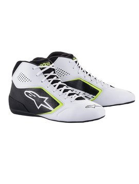 Alpinestars Tech-1 K Start v2 Shoe weiß Schwarz Gelb Fluo