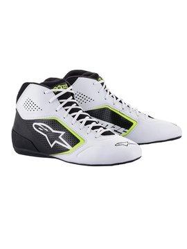 Alpinestars Tech-1 K Start v2 Shoe Wit Zwart Geel Fluo