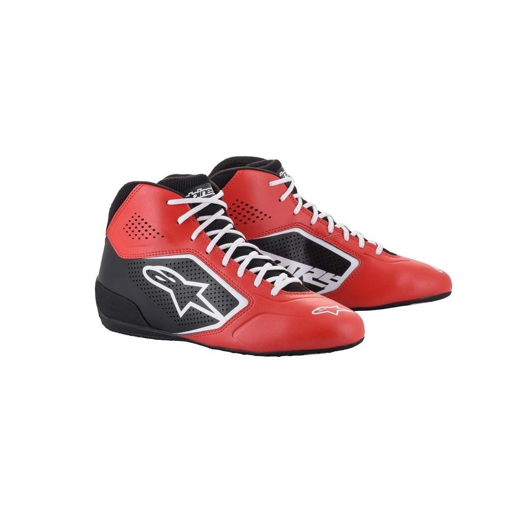 Alpinestars Tech-1 K Start v2 Shoe Rood Zwart Wit