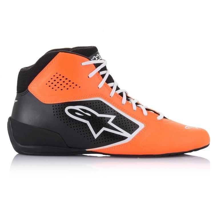 Alpinestars Tech-1 K Start v2 Shoe Orange Fluo Schwarz weiß