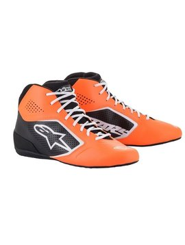 Alpinestars Tech-1 K Start v2 Shoe Oranje Fluo Zwart Wit