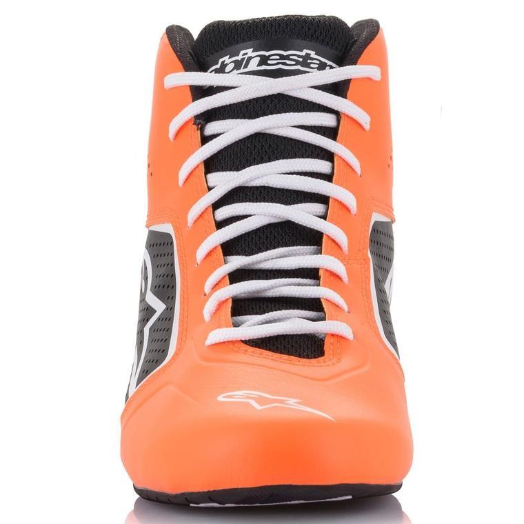 Alpinestars Tech-1 K Start v2 Shoe Oranje Fluo Zwart Wit