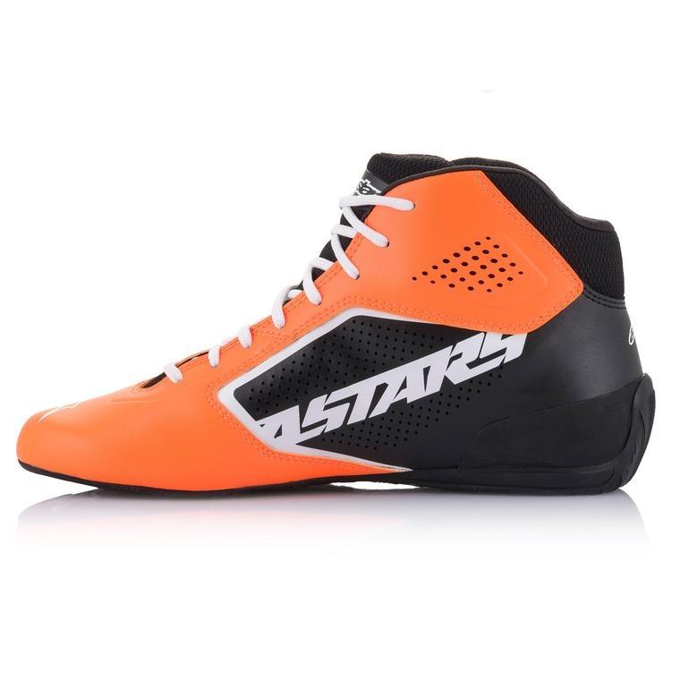 Alpinestars Tech-1 K Start v2 Shoe Orange Fluo Noir Blanc