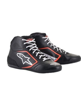 Alpinestars Tech-1 K Start v2 Shoe Schwarz weiß Rot Fluo