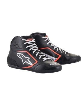 Alpinestars Tech-1 K Start v2 Shoe Zwart Wit Rood Fluo