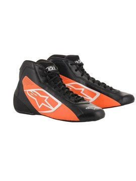 Alpinestars Tech-1 K Start Schoenen Zwart Fluo Orange