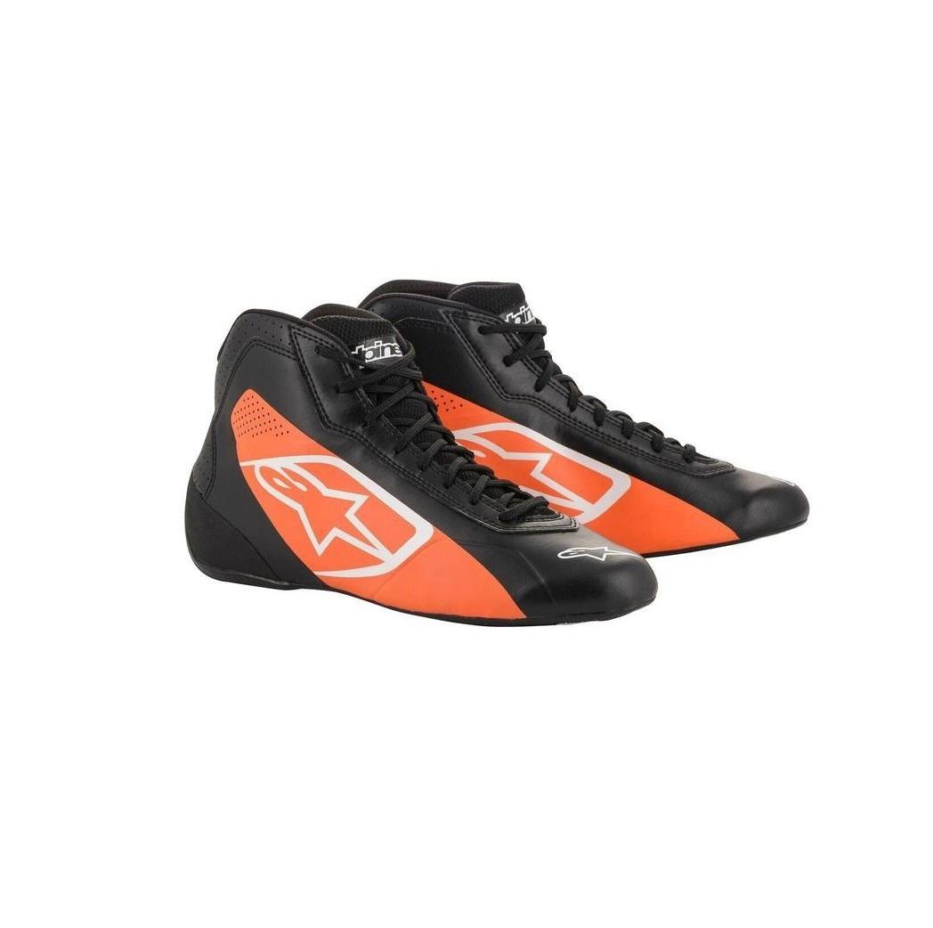 Alpinestars Tech-1 K Start Shoe Black Orange Fluo