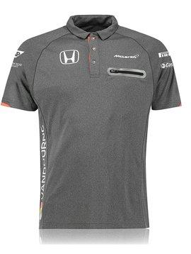 McLaren Polo Official Stoffel Vandoorne Grau