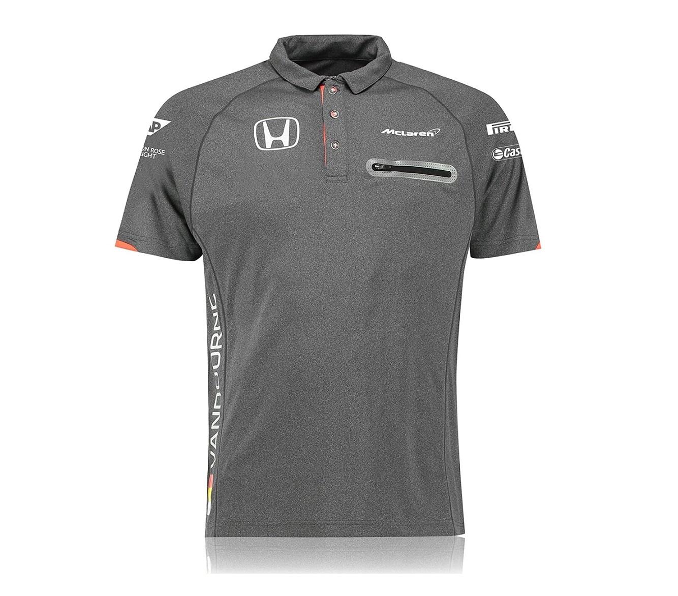 McLaren Polo Official Stoffel Vandoorne Grijs
