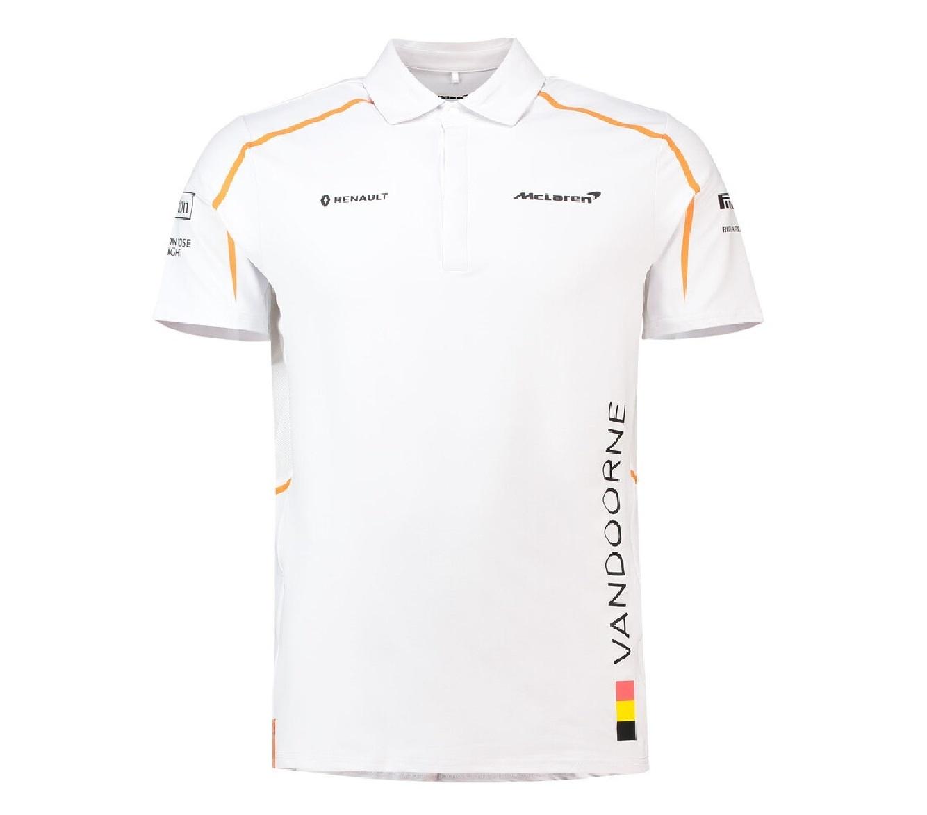 McLaren Polo Official Stoffel Vandoorne Weiss