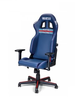 Sparco Martini Racing Stoel Blauw Navy