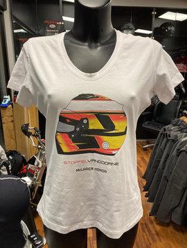 "McLaren T-Shirt ""Helmet"" White Woman"