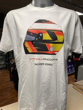 """McLaren T-Shirt """"Helmet"""" Weiss Mann"""
