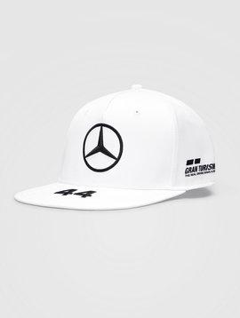 Mercedes Casquette Hamilton (Flat) 2021 - Blanc