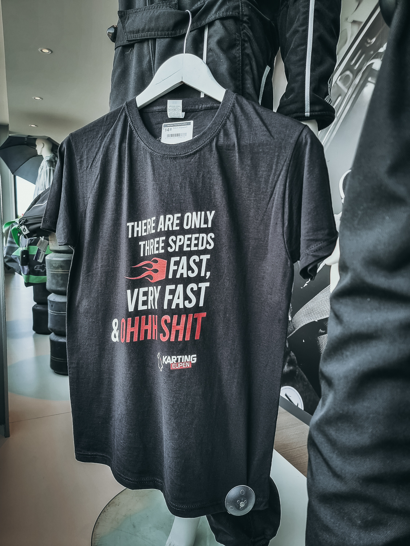 Karting Eupen T-Shirt - 3 Speeds Zwart