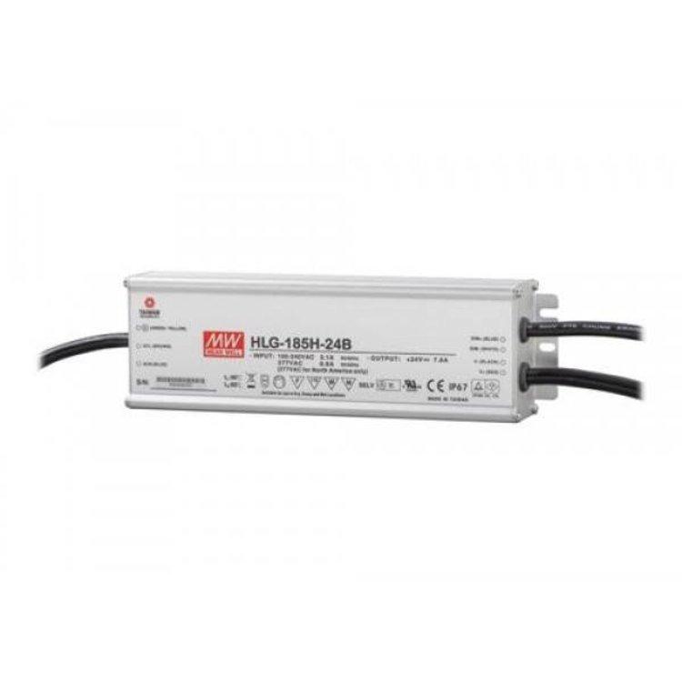 Lucente Meanwell Leddriver 185W 24V IP67 dimbaar
