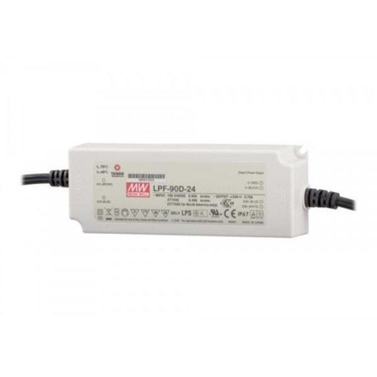Lucente Meanwell Leddriver 90W 24V IP67 dimbaar