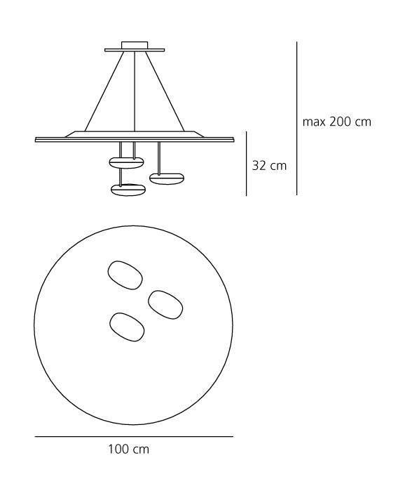 Artemide Droplet suspension
