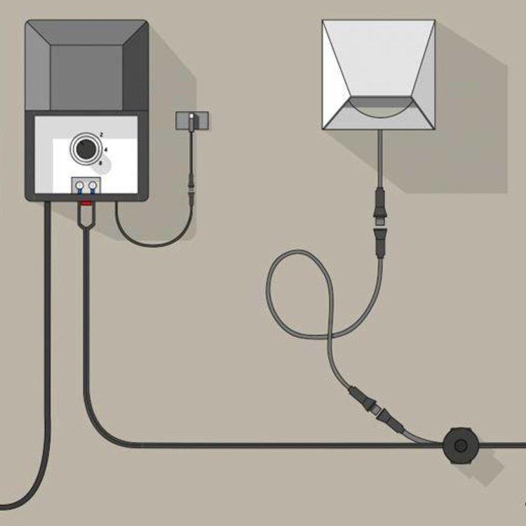 In-Lite buitenlampen en tuinverlichting 12 volt CBL-EXT CORD 1MTR