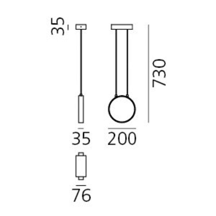 Artemide Artemide Eclittica 20 hangleuchte