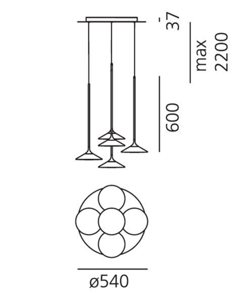 Artemide Artemide Orsa Hanglampe