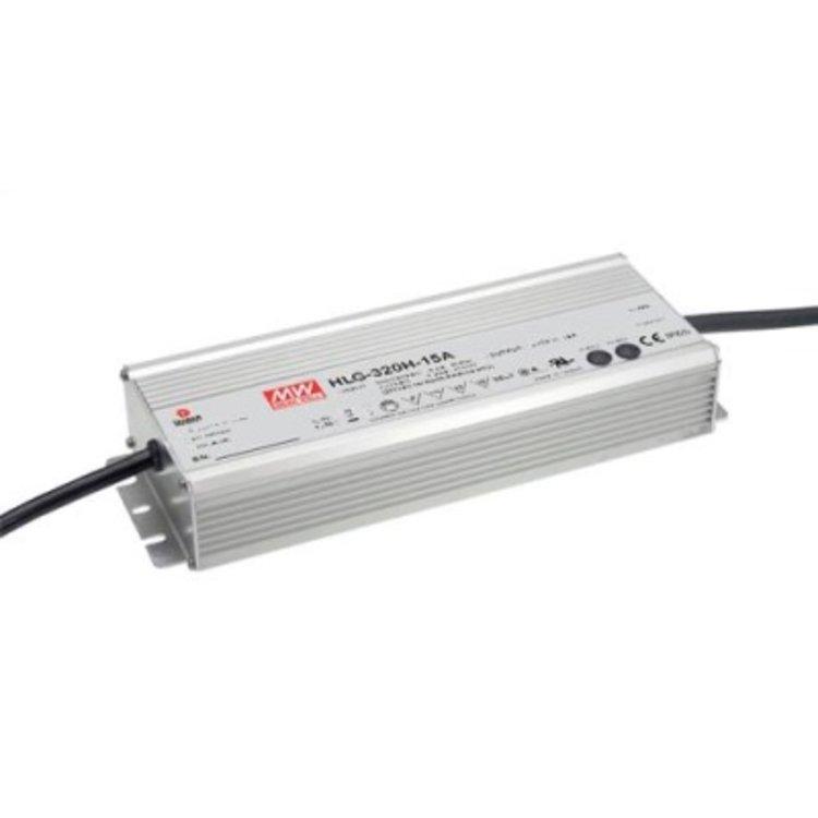 Lucente Meanwell Leddriver 320W 24V IP67 dimbaar
