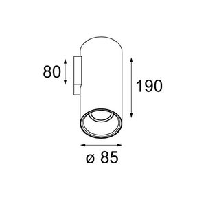 Modular Modular Lotis tubed  wall 1XGU10