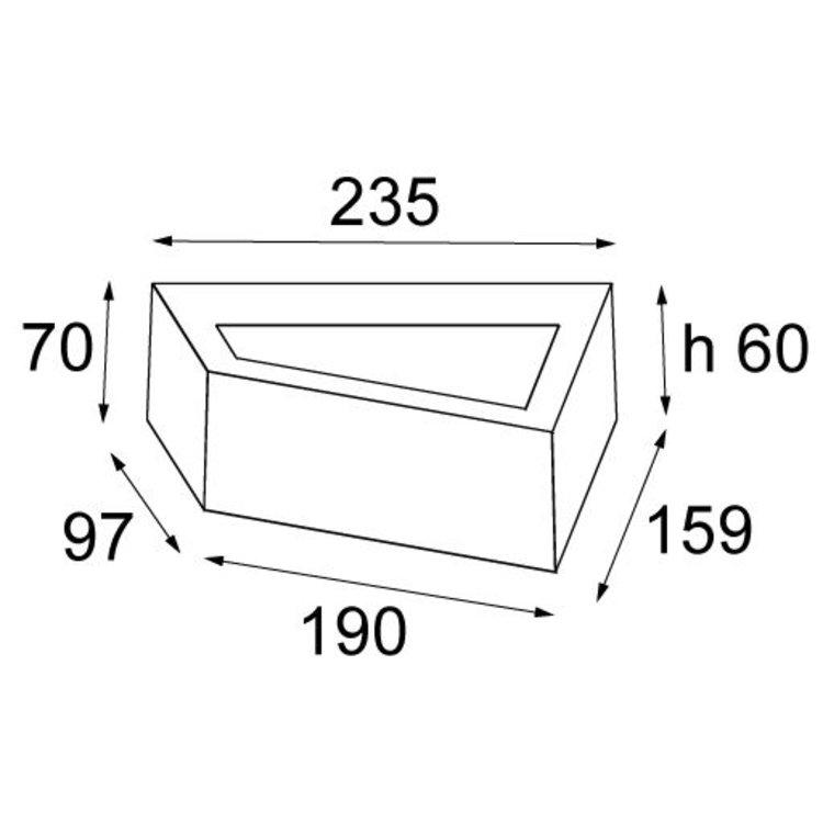 Modular Modular Bold wandlamp